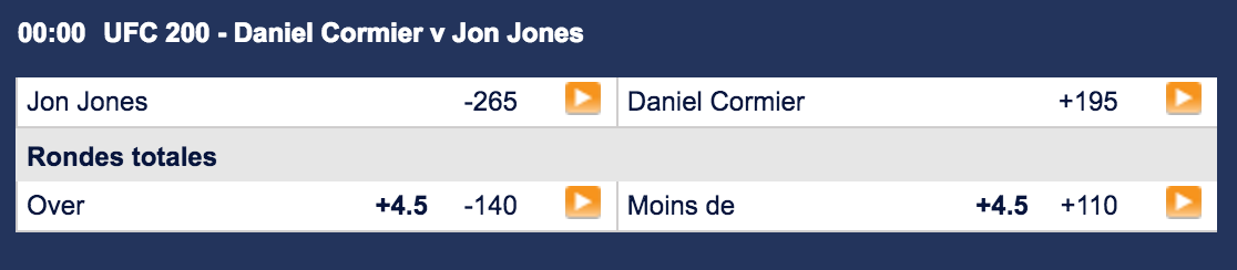 Daniel Cormier vs Jon Jones