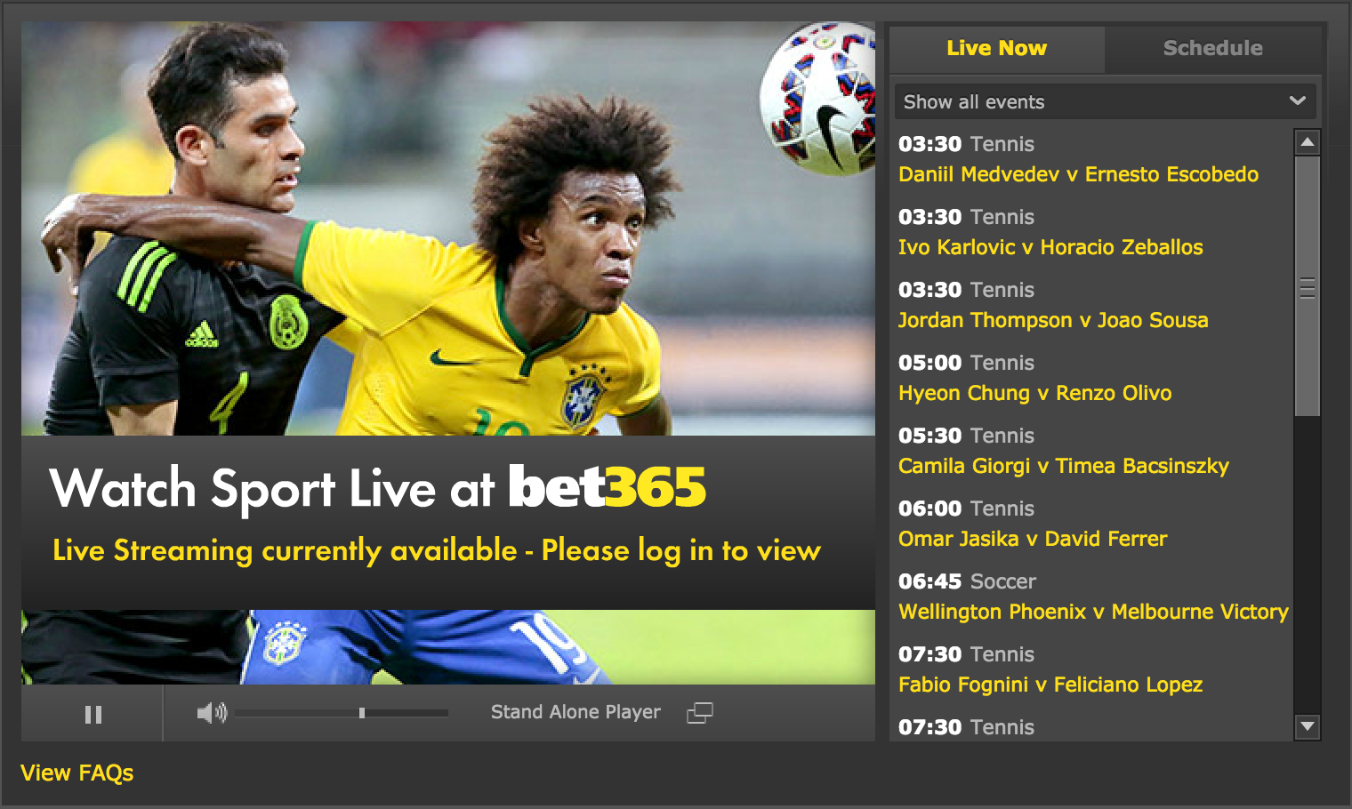 Watch Australian Open Live at Bet365