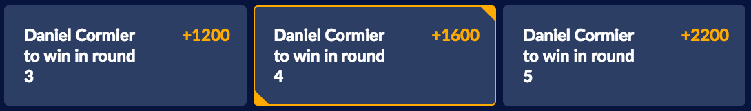 Cormier vs Johnson 2 Odds at Sports Interaction