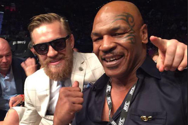 Conor McGregor with Mike Tyson