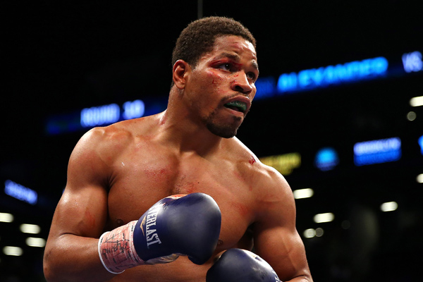 Shawn Porter working on one of his 28 career victories.