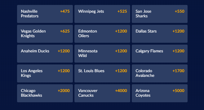 NHL Western Conference Futures